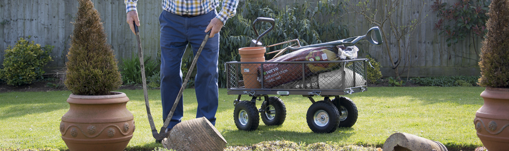 Garden Hand Carts, Wheelbarrows & Powerwagons
