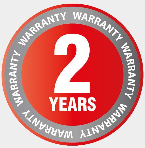 AL-KO 2 year warranty