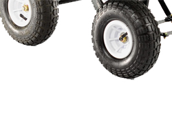 Pneumatic tyres with roller bearings